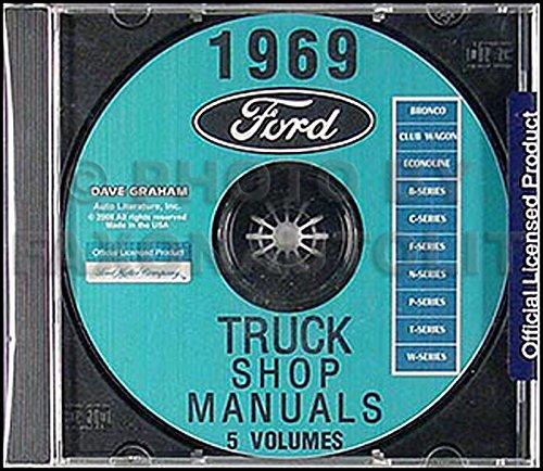 1969 Ford Truck Repair Shop Manual CD for Pickup Bronco Van and Big trucks (Bronco Transmission Ford)