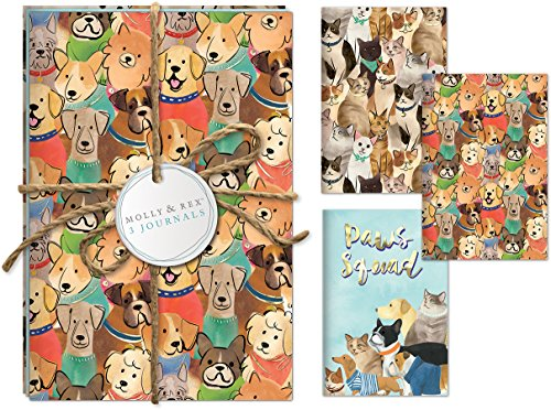 Molly & Rex 38662 Cats and Dogs Twine Journal Trio Set