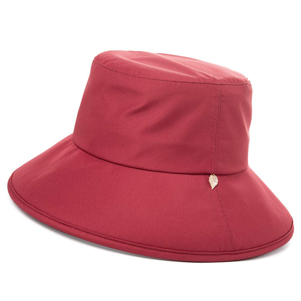 Comhats Ladies UPF 50 UV Bucket Sun Hat Waterproof Rain Hat for Walking Hiking with Chin Strap Packable Adjustable