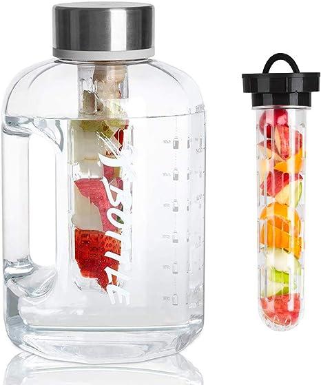 2.5 Liter Waterfles met Tijden om te drinken Vaatwasser