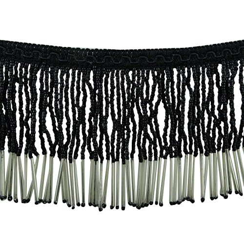 Decorative Beaded Fringe Trim Upholstery Ribbon Curtain Craft Supply By The (Decorative Beaded Trim)