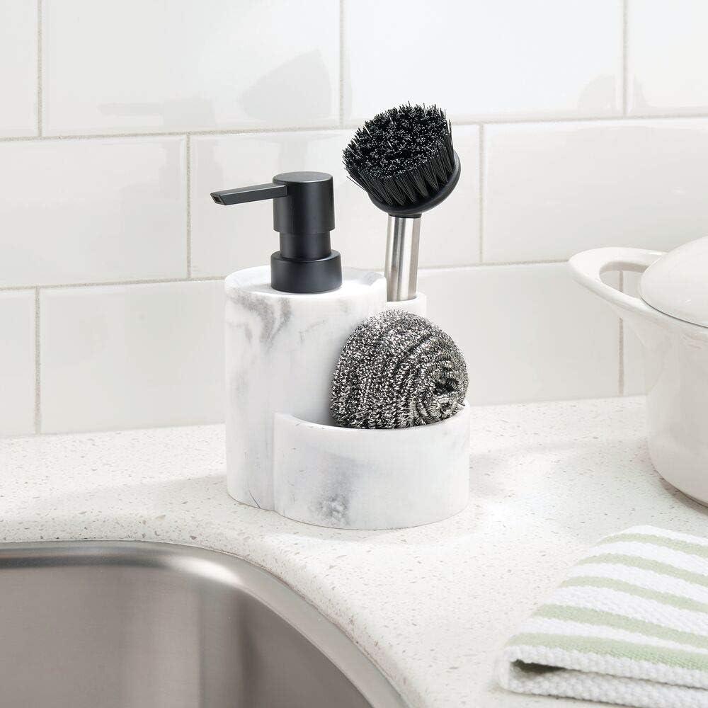 mDesign Dispensador de jabón lavavajillas – Práctico dosificador ...