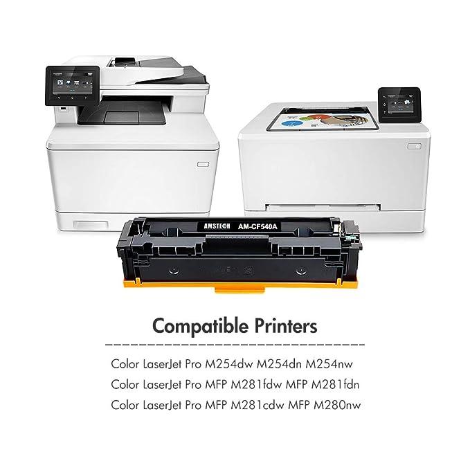 Amstech - Tóner Compatible con HP 203A CF540A CF541A CF542A CF543A ...