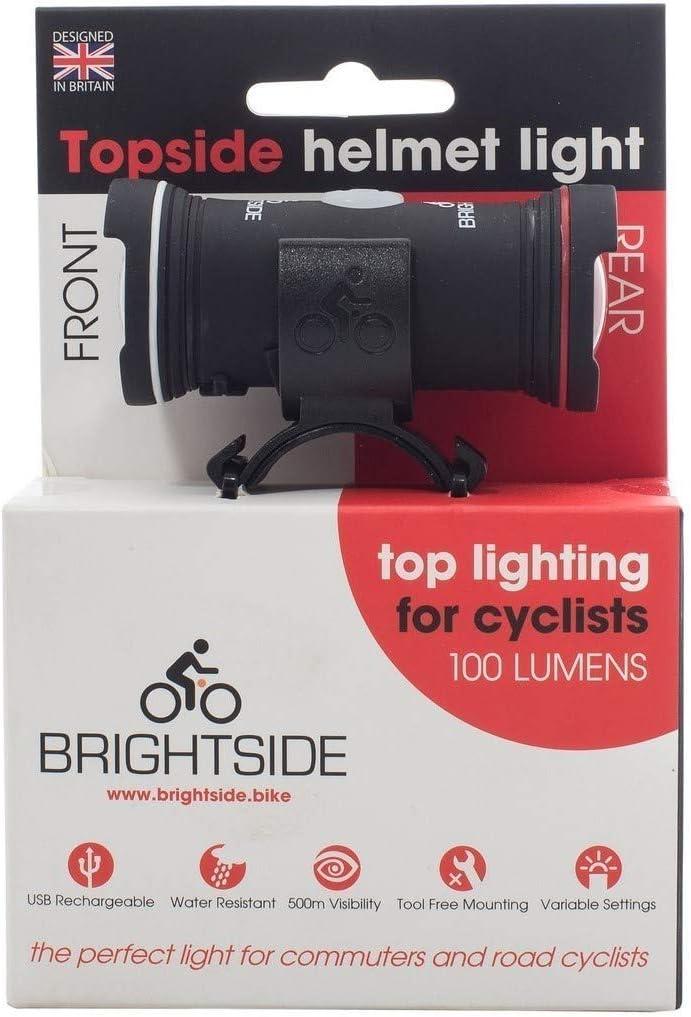 Topside Bike Helmet Light Ideal for All Road C Dual Front  Rear Bright Light
