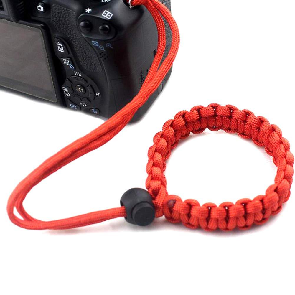 JUNZANQEE 手編み パラコード 調節可能 カメラ用リストストラップ B07M8YZMVJ