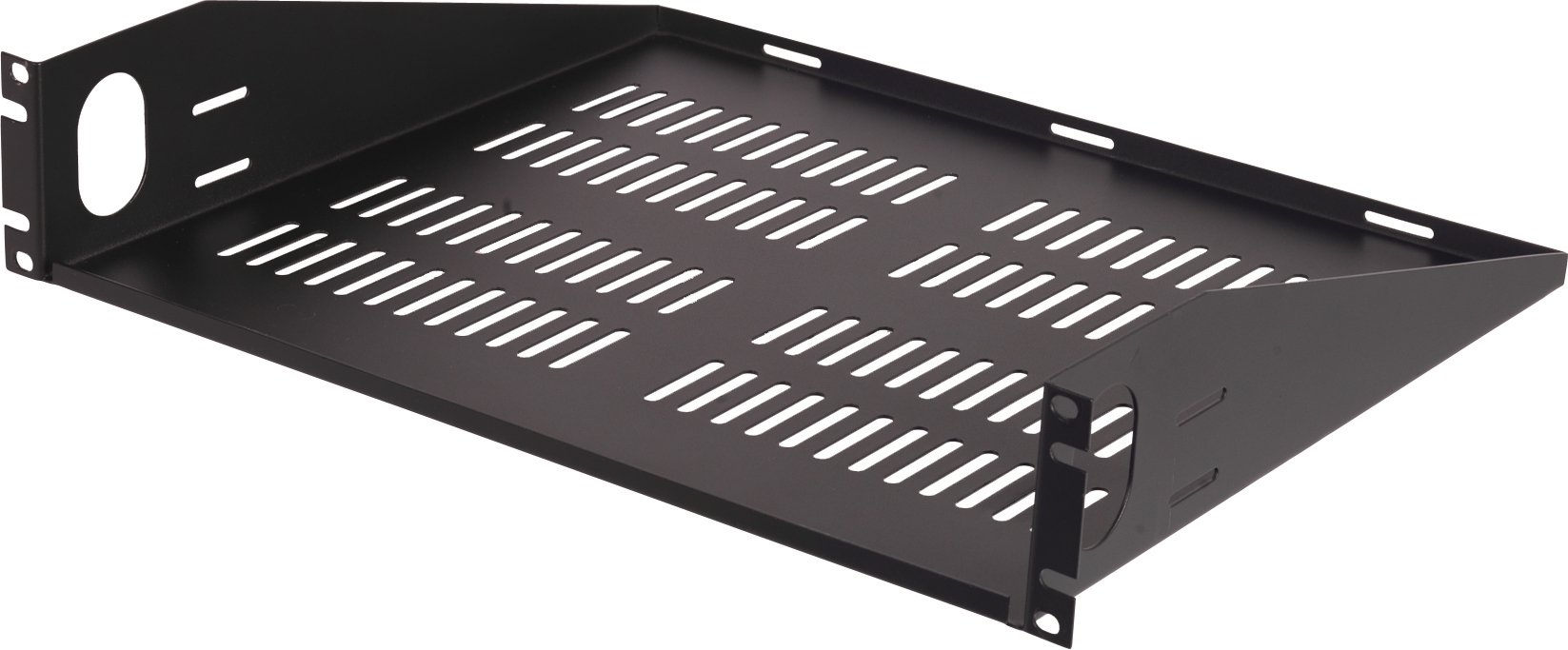 VMP ER-S2UV Universal Vented Two Space Equipment Rack Shelf (Black)