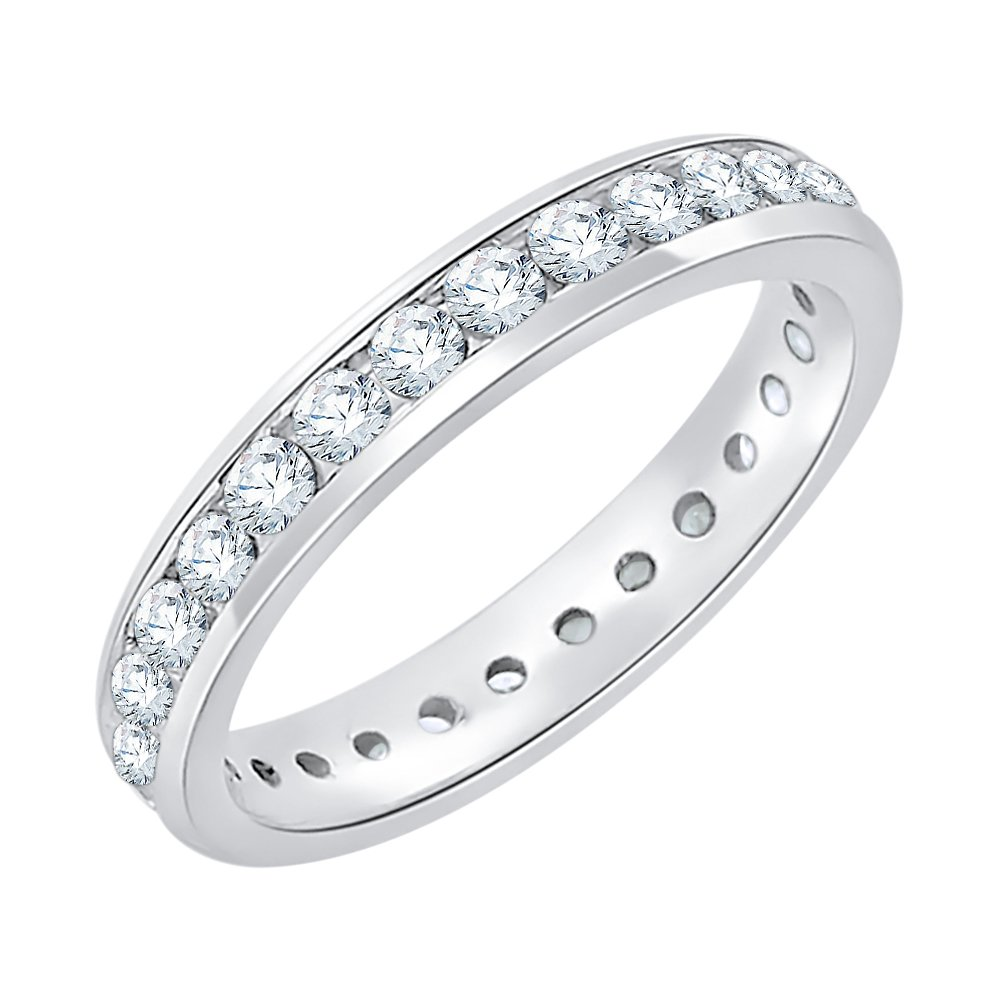 Diamond Eternity Band in Sterling Silver (7/8 cttw) (GH-Color, I2/I3-Clarity) (Size-3.5)