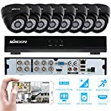 KKmoon 8CH H.264 960H/D1 DVR Security System with 8pcs 800TVL IR-CUT Night View CCTV Camera for Home Surveillance