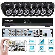 KKmoon 8CH H.264 960H/D1 DVR Security System with 8pcs 800TVL IR-CUT Night View CCTV Camera for Home Surveillance
