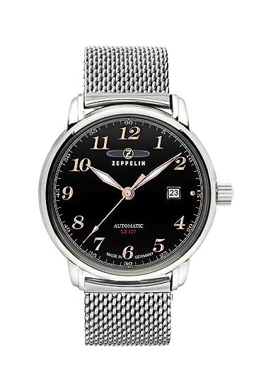 Zeppelin Watches 7656M2 - Reloj para hombres, correa de acero inoxidable
