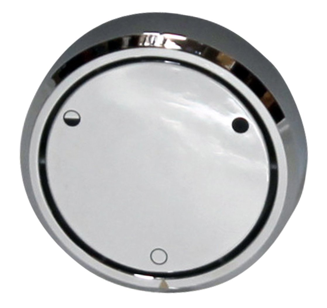 Westbrass Round Replacement, Full or Partial Closing Metal Overflow, Polished Chrome, D493CHM-26