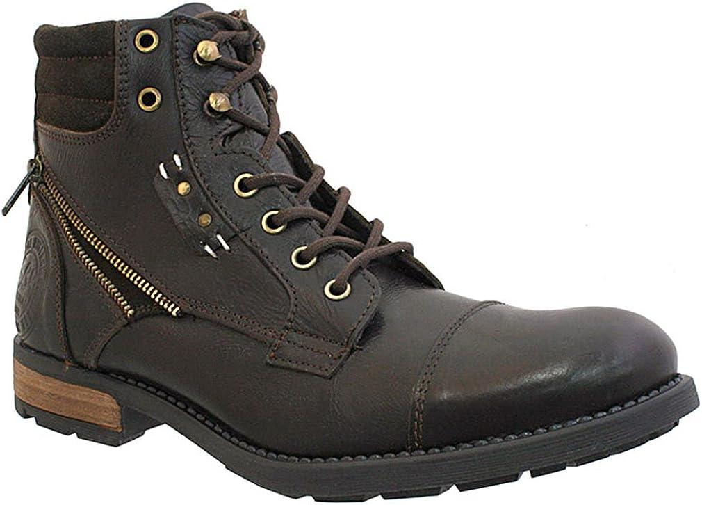 GBX Men's Cap Toe Side Zipper Boots