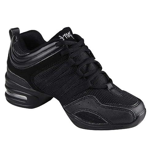 Informal Running Practicidad Zapatillas Libre Danza Contemporáneo Jazz Deporteslos Zapatos Gtagain Baile Mujer Aire Cordones Sneaker Lona lJF13TKc