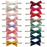 Baby Nylon Headbands Hairbands Hair Bow Elastics for Baby Girls Newborn Infant Toddlers Kids by Prohouse (Felt Cloth Bows-16PCS)