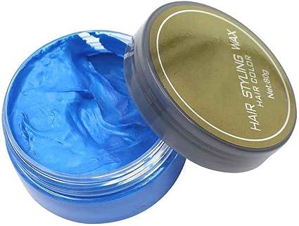 Elenxs 5 Colorido Estilismo Tinte de una Sola Vez de moldeo instantánea Pega Temporal de Barro Mantequilla de Cera para el Maquillaje de Pelo Azul