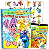 "Best Sesame Street Friends Sticker Books - Sesame Street Elmo & Friends ""Animals All Around"" Review"