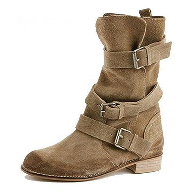 acheter pas cher énorme réduction handicaps structurels Bottes femme COWBOY, boots cuir daim, bottes femme cuir ...