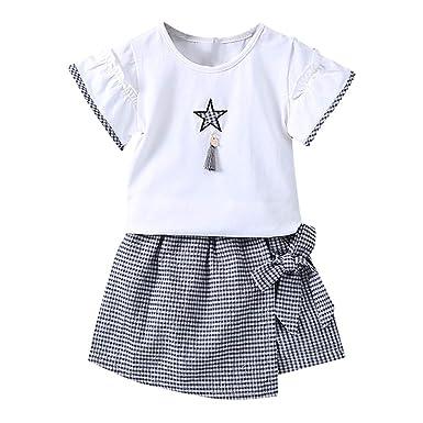 DFVVR - Conjunto de Camiseta de Manga Corta para bebé y Falda con ...