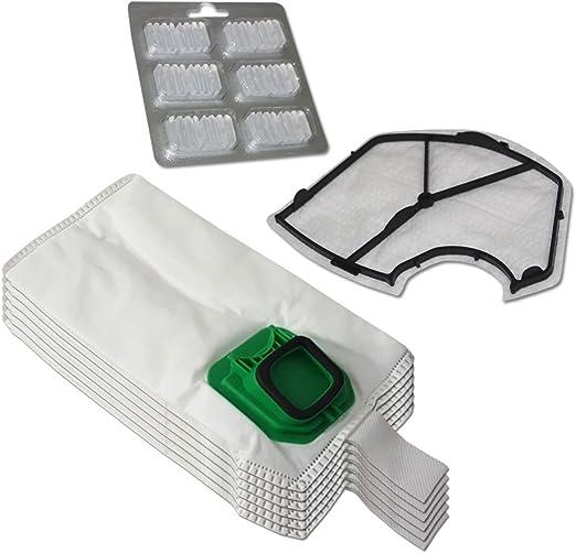 Filterprofi - Kit de 6 bolsas (microfibra) + 6 ambientadores + Filtro de motor para aspiradora Vorwerk Folletto Kobold VK140, VK150: Amazon.es: Hogar