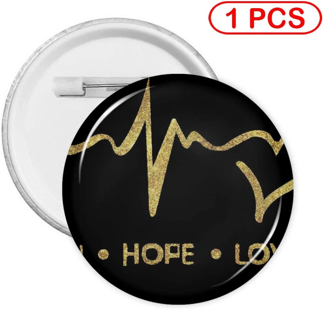 YXXZ Faith Hope Love Round Badge Brooches and Pins Accessories Multiple Packs
