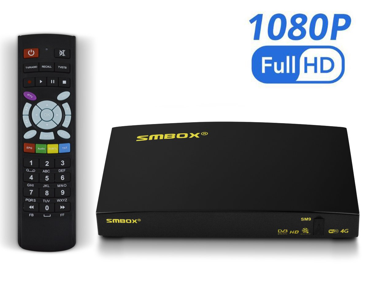 SMBOX SM P Full HD Receptor de satélite TV Box con todos