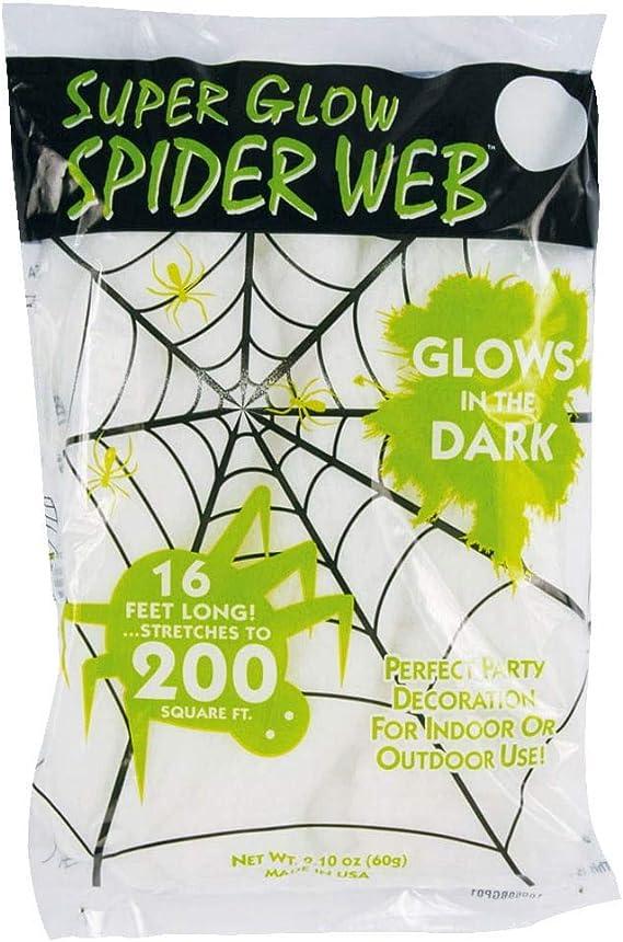 Horror Shop Glow In The Dark Spinnweben 60gr Amazon De Spielzeug