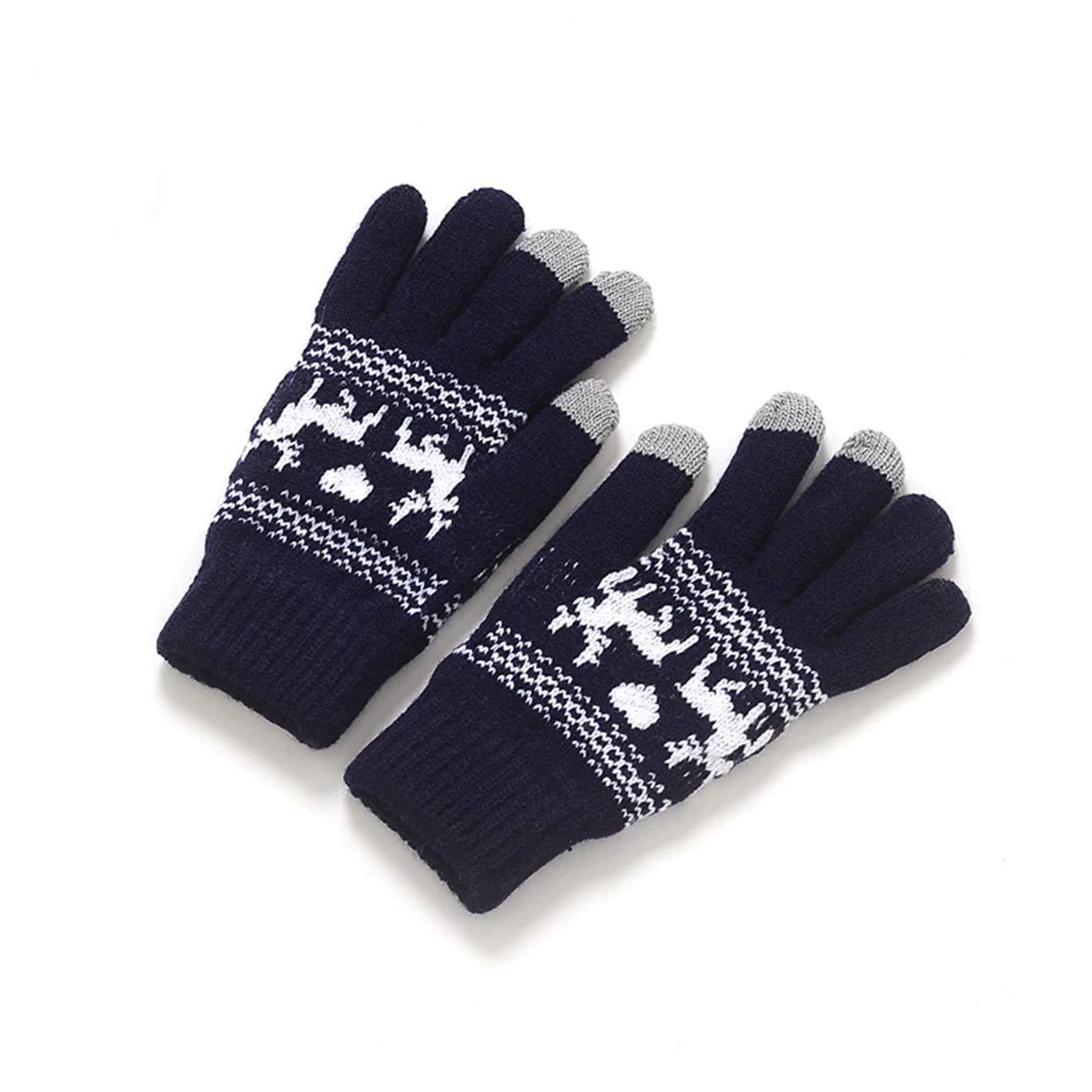 レディースメンズ冬用手袋 ニット製 ソフト 暖かい ユニセックス ボーイズ ユース クラシカル 人気 エクストリーム ジム フットボール ゴルフ スクリーン タクティカル 作業 ハンド リストストラップ ドライヤー タッチグローブ 1ペア  Type-05 B07M6ZCCN7