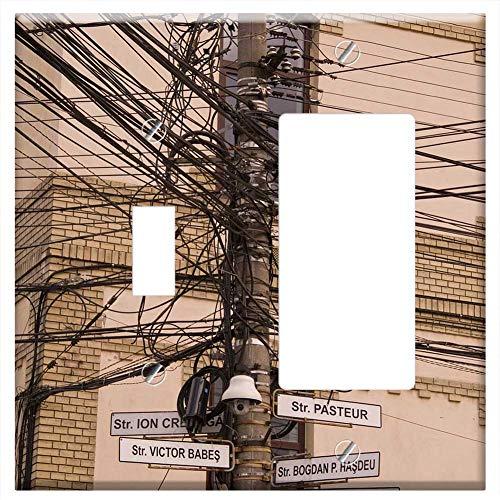 1-Toggle 1-Rocker/GFCI Combination Wall Plate Cover - Romania Cluj Napoca Romanian Town Wire Electr (Wire Electr)