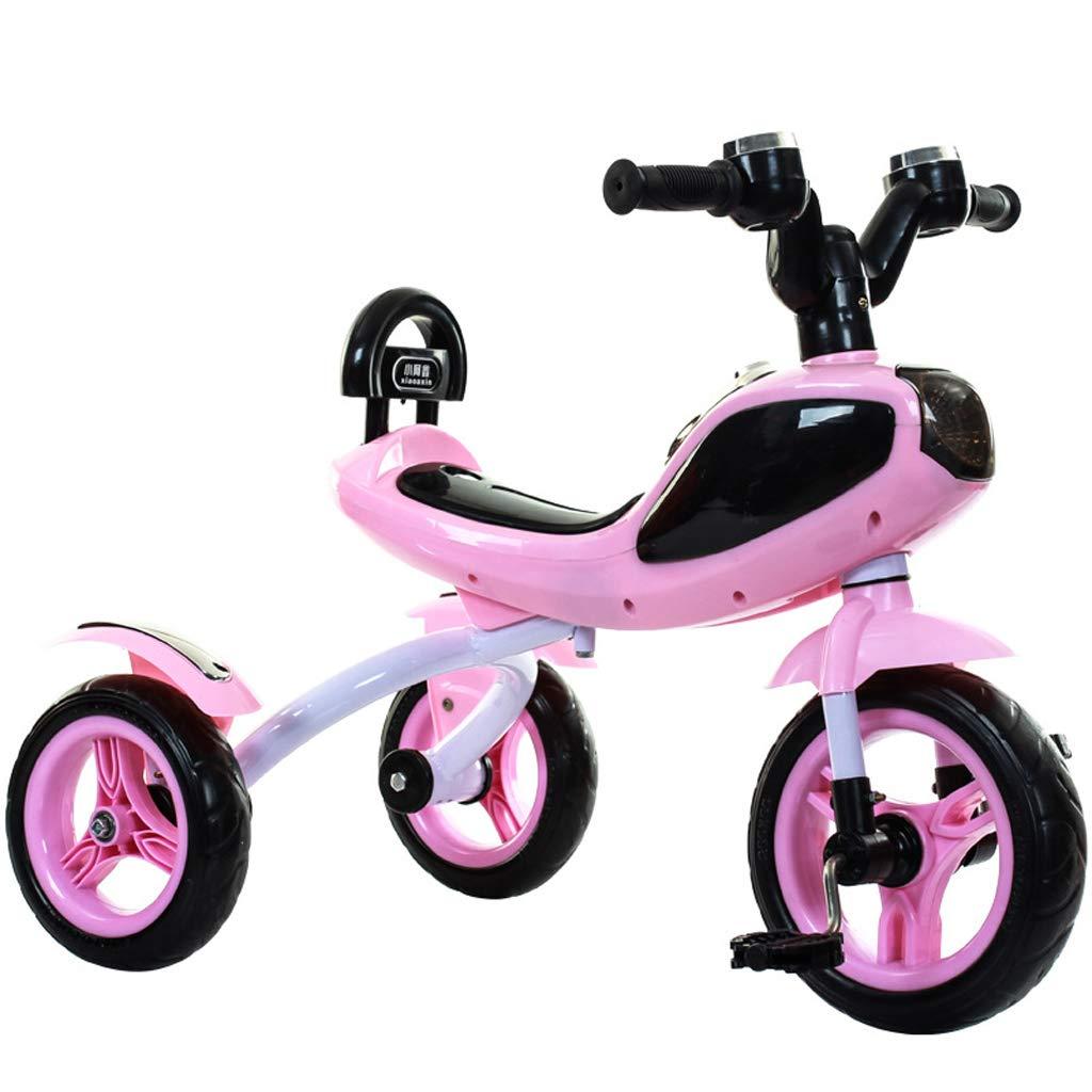 suministro de productos de calidad Bicicleta del Coche del Equilibrio del del del Triciclo del Pedal del Triciclo de los niños con Las Luces Frescas de la música convenientes para los niños de 2-5 años (Color : Pink)  excelentes precios