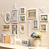 Hongyu 10 Multiple Picture Frames Photo Wall Solid Wood European Flower Love Combination Frame Wall Living Room Bedroom Background Wall