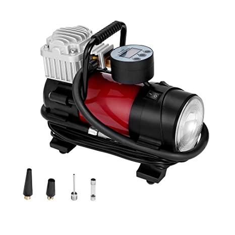 CATUO Compresor de Aire para Coche 12V 150PSI 35L/ min con Pantalla Digital Linterna LED