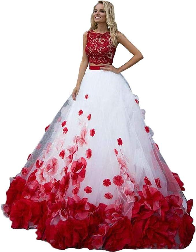 Preferenza Nanger Abito da donna linea A Principessa 2 pezzi abito da sposa WP33