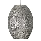 Beautiful And Intricate Moroccan Style Brushed Chrome Metal Filgree Design Ceiling Pendant Light Shade