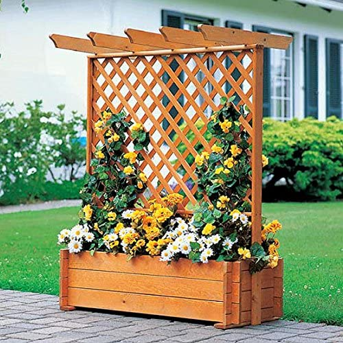Rank Buzón con Pergola 112 x 65 x 140 cm Rank ayuda Jardinera Pino maciza: Amazon.es: Jardín