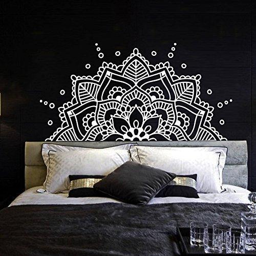 Half Mandala Wall Decal Vinyl Sticker Headboard Master Bedroom Boho  Bohemian Decor Yoga Studio Namaste Ornament