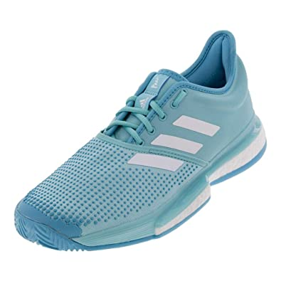 1f5bcc2deb12a adidas SoleCourt Boost x Parley Mens Tennis Shoe (Teal White) (7)