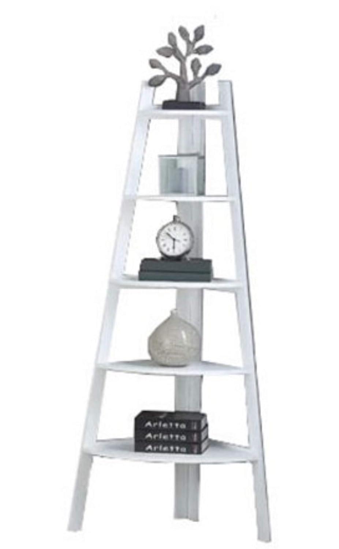 White Corner Shelving Unit Furniture. Mari Wood Corner Shelving Unit Furniture Bookcase, 63'' H x 29'' W x 21'' D (Black)