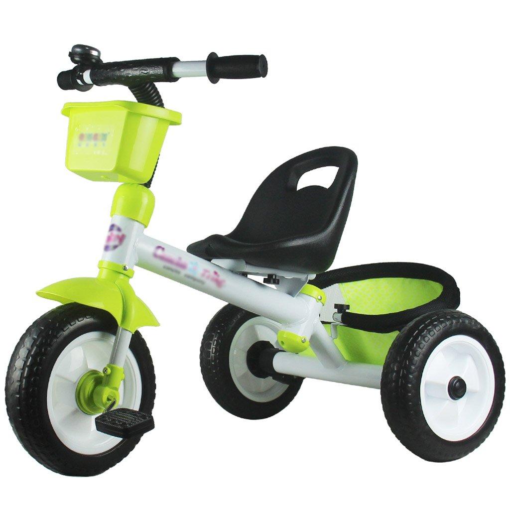 子供用トライク、三輪車の乗り物バイク、赤ちゃんの滑り自転車、おもちゃの自転車、自転車の子供、フットペダルの3つの車輪 (色 : A) B07CZFQX38A