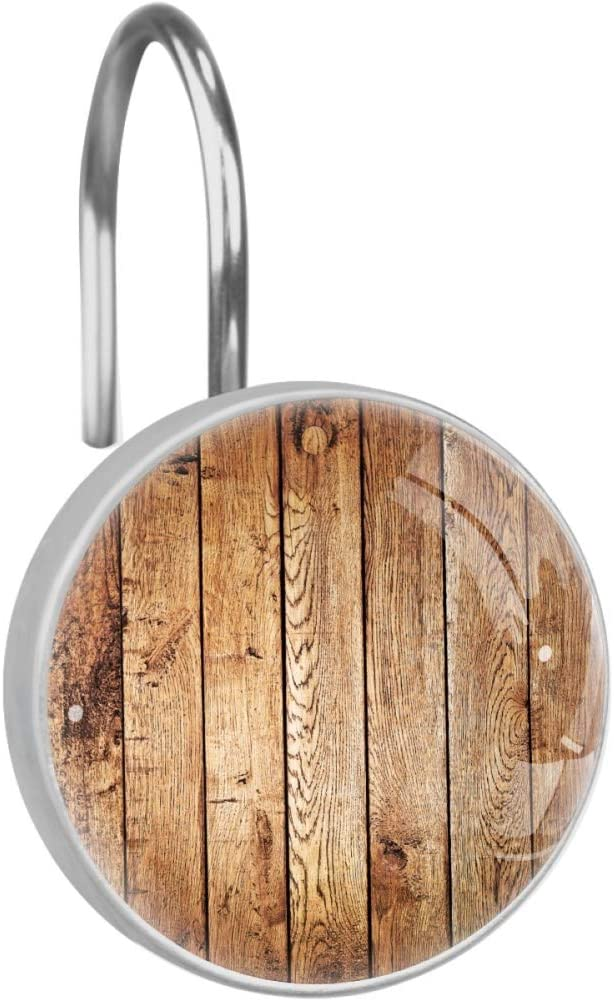 Lorvies Wood Shower Curtain Hooks Set Of 12 Stainless Steel Shower Hooks Decorative Hanger Rings Rust Resistant For Bathroom Kids Room Fashion Home Decor Home Kitchen Amazon Com