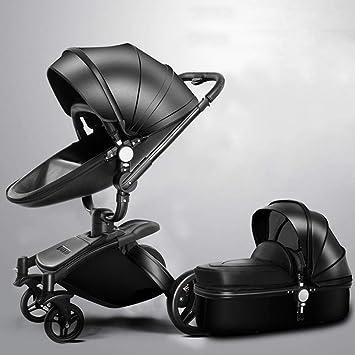 Olydmsky Carro Bebe,Recién Nacido Cochecito Alta Vista suspensión Puede reclinada del Cochecito de bebé Plegable rotativa: Amazon.es: Hogar