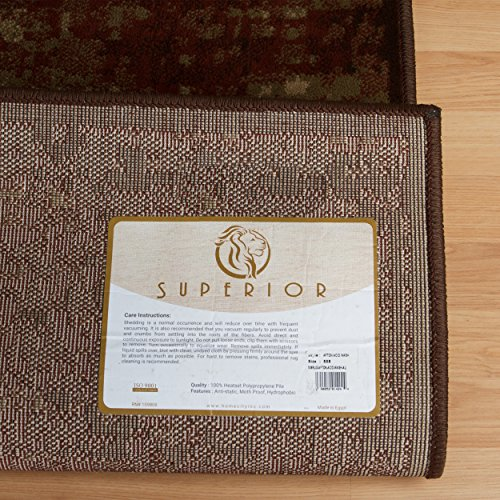 Superior Modern Afton Acid Wash Collection Area Rug, 10mm