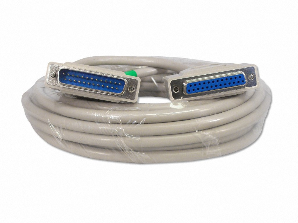 Your Cable Store 25 Foot DB25 25 Pin Serial Port Cable Male / Female RS232 by Your Cable Store