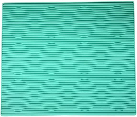 accesorio antideslizante alfombrilla de secado de platos Tapete de cocina multifunci/ón de silicona para fregadero alfombrilla de escurridor rectangular 30 x 24 cm verde