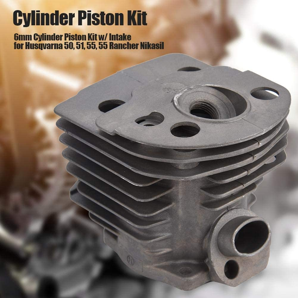 46mm Cylinder Piston w//Gasket Kit for Husqvarna 50,51,55 Rancher Nikasil Engine