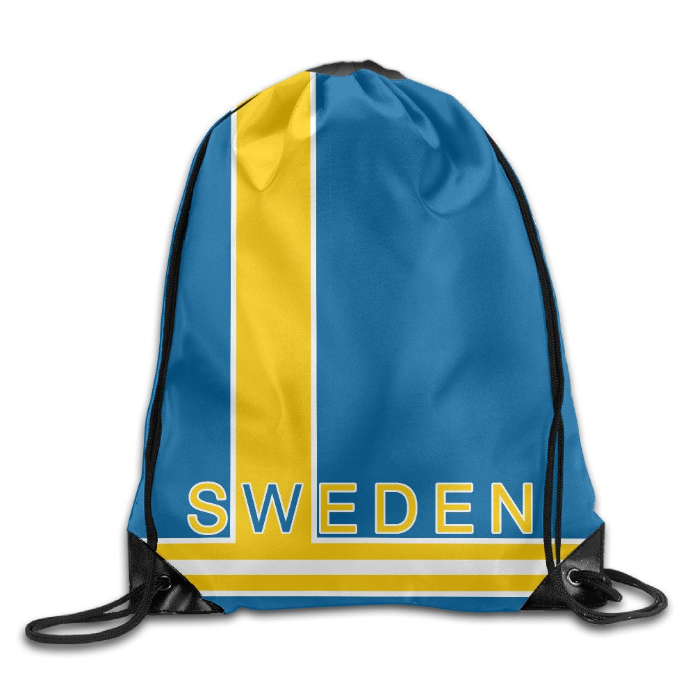 IOTOI 2016 World Cup of Hockey Team Sweden Drawstring Backpack Gym Sack Bag 12.2 X 10.2