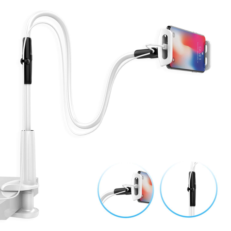 Lamicall Soporte para Móvil con Cuello de Cisne : Soporte para Teléfono e Smartphones para Phone XS XS MAX XR X 8 7 6s 6 Plus 5s 5 4s 4, ...