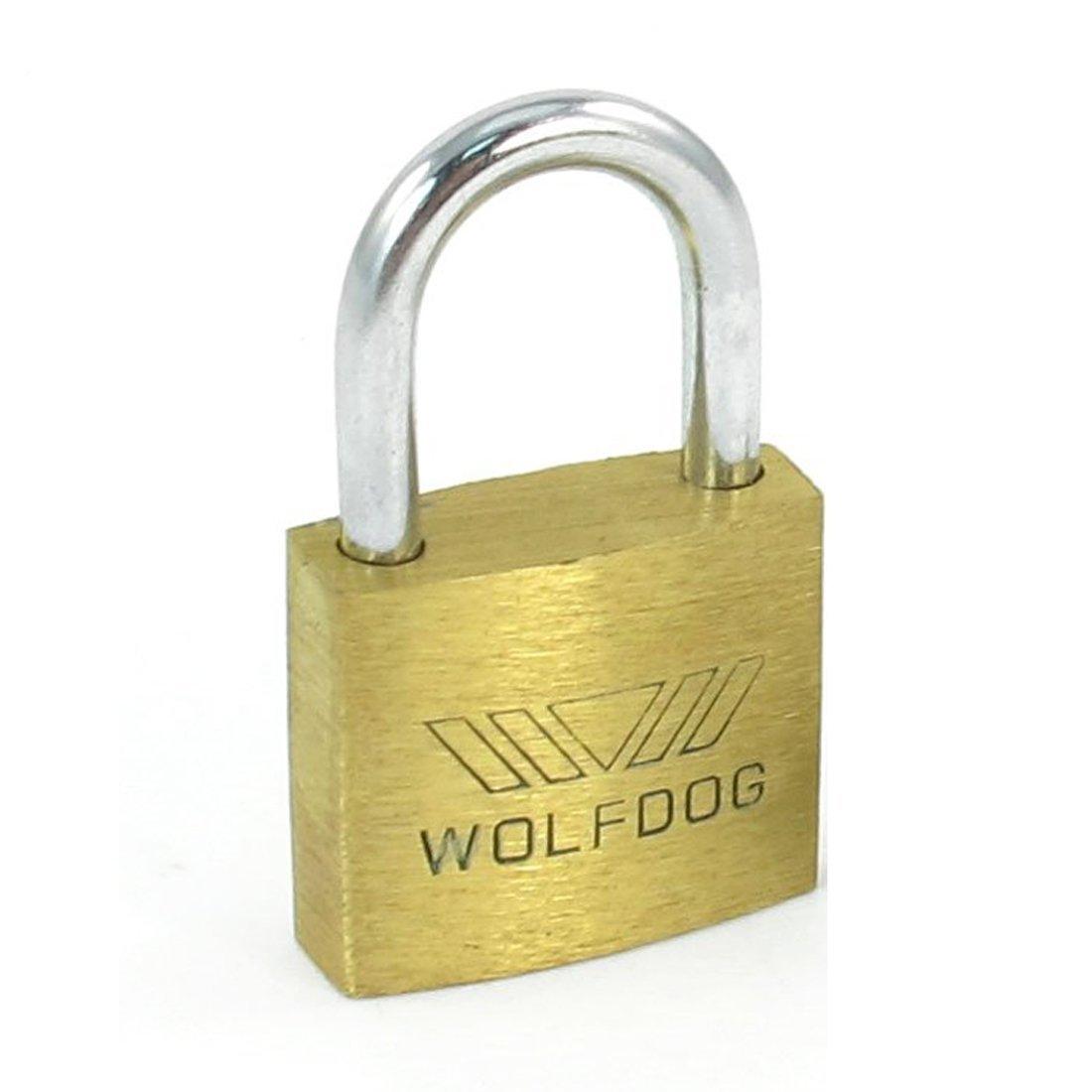Candado de laton WOLFDOG candado de laton bloqueo de puerta de seguridad de anchura de 20mm de mini tamano con 3 llaves