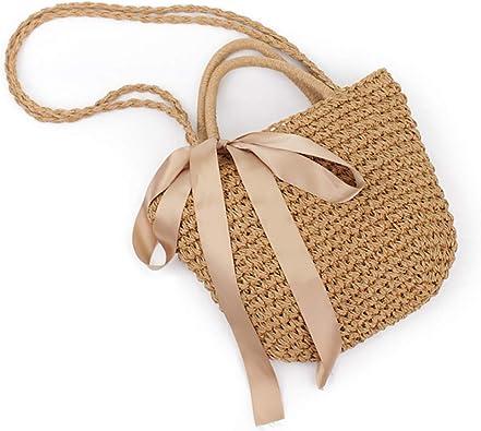 Sac en rotin tiss/é /à la main nouveau sac de voyage tiss/é r/étro sac rond style boho sac de plage en paille r/étro mode pour femme