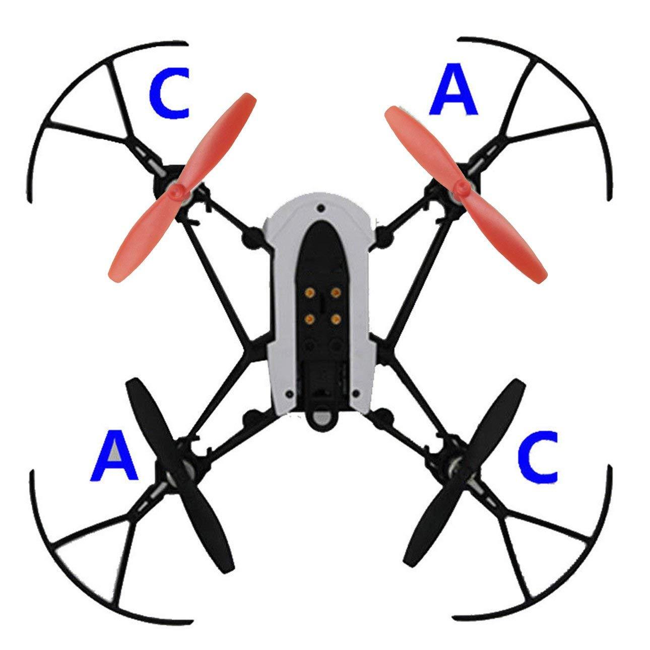 Ballylelly 1 Juego de Mini Drones de Palas de h/élice para Piezas de UAV Parrot Mambo