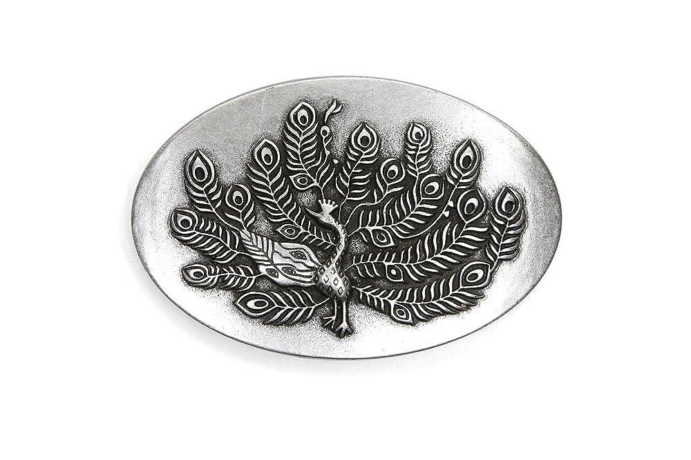 VaModa G/ürtelschlie/ße Wechselschlie/ße G/ürtelschnalle Buckle Modell Peacock